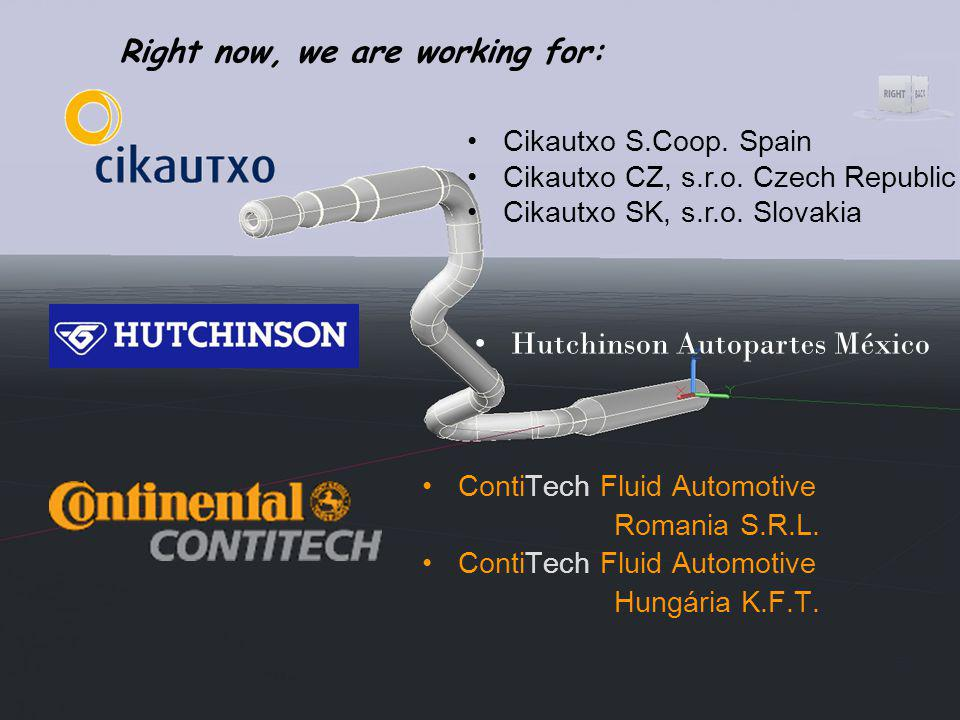 Right now, we are working for: Cikautxo S.Coop. Spain Cikautxo CZ, s.r.o.