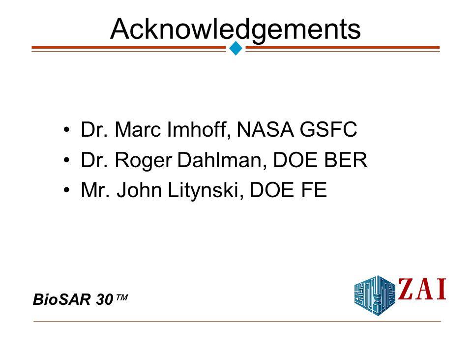 BioSAR 30  Acknowledgements Dr. Marc Imhoff, NASA GSFC Dr.