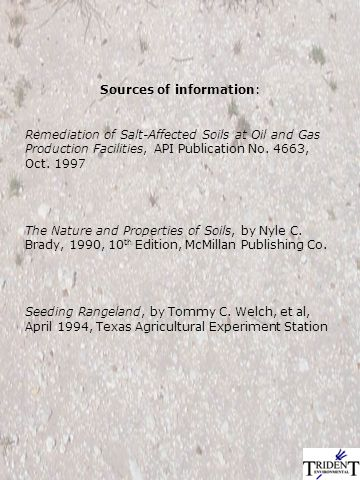 Soil Characterization & Sampling for Effective Surface Reclamation of Saltwater-Impaired Soils Gilbert J.