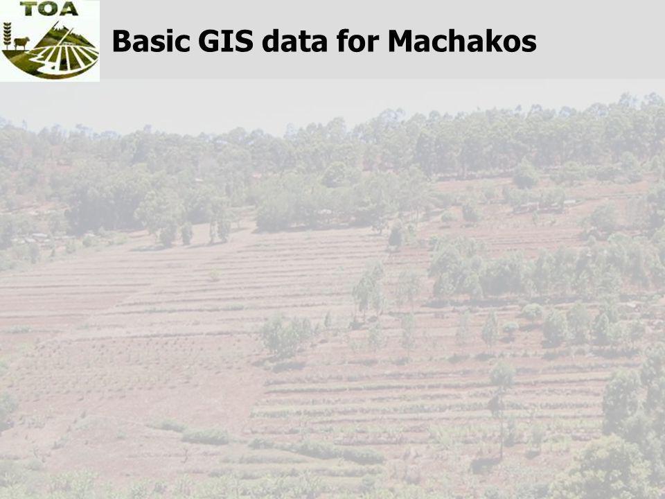 Basic GIS data for Machakos