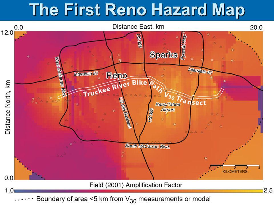 J. Louie UNR Geol492/692 Spring 2005 The First Reno Hazard Map