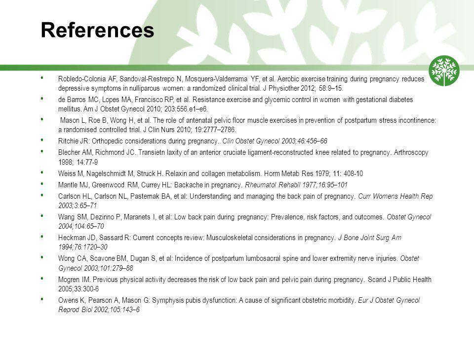 References Robledo-Colonia AF, Sandoval-Restrepo N, Mosquera-Valderrama YF, et al.
