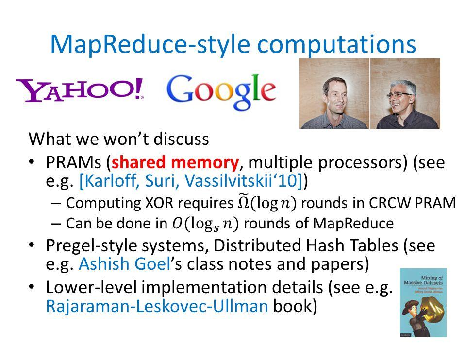 MapReduce-style computations