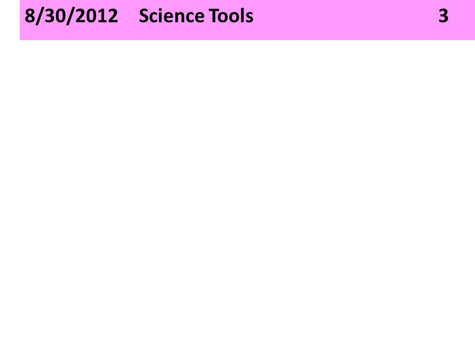 8/30/2012 Science Tools 3