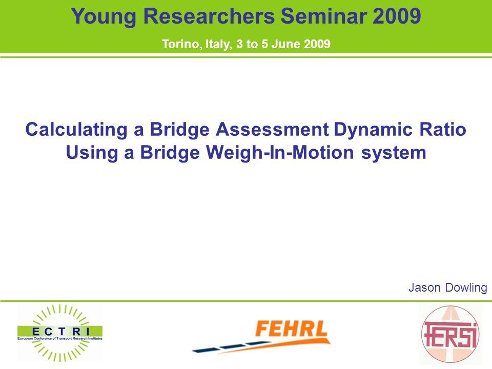 Overview 1.Bridge Weigh-In-Motion 2. Model Description 3.