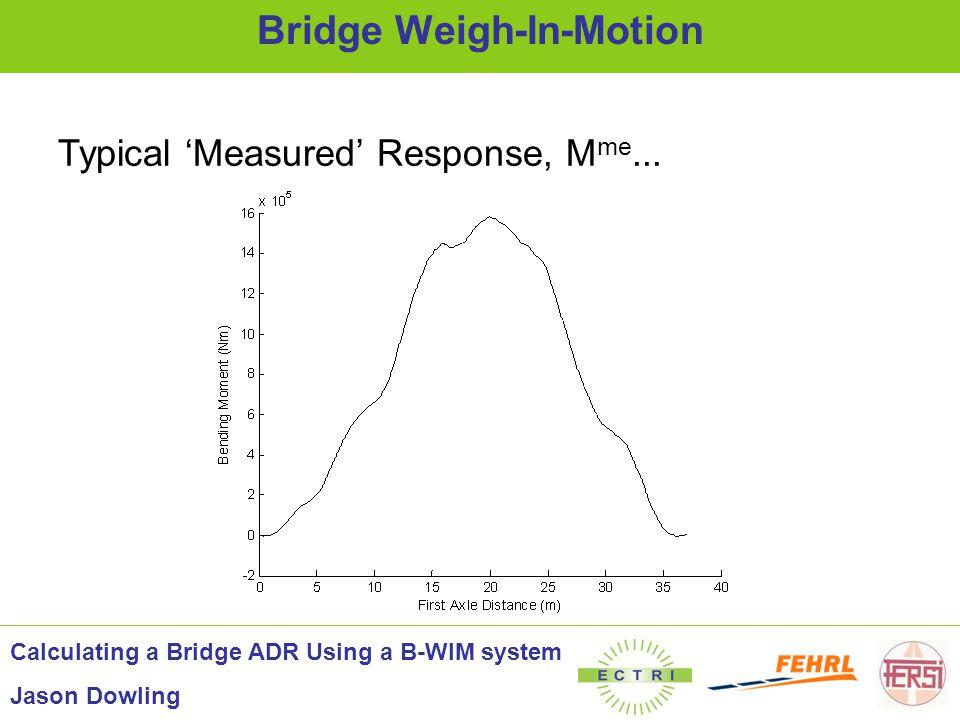 Bridge Weigh-In-Motion Calculating a Bridge ADR Using a B-WIM system Jason Dowling x M th...