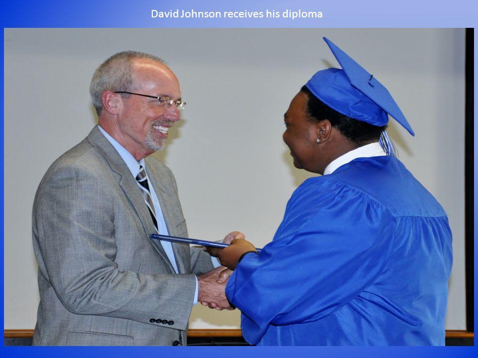 David Johnson receives his diploma