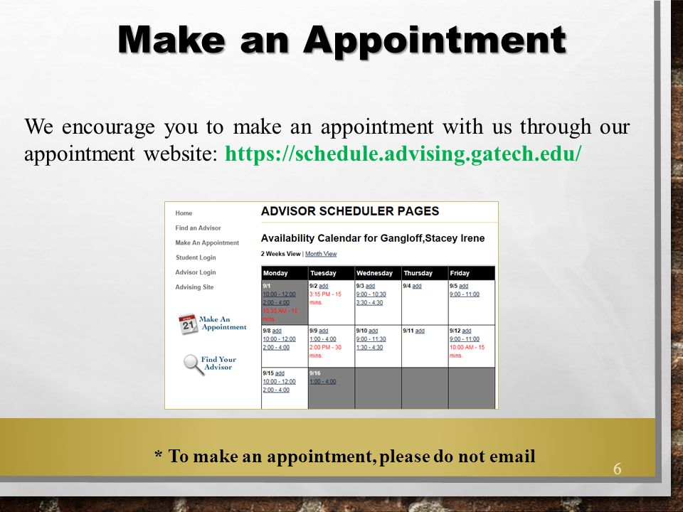 Walk-In Thursdays Hours: 9:30-11:30am 1:30-3:30pm Use walk-in hours when you have quick advising questions or when you are not able to get on our schedule.