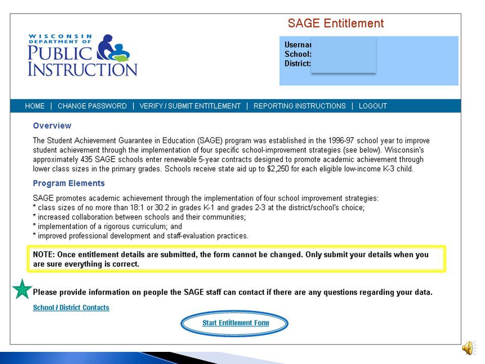  Go to https://apps4.dpi.wi.gov/sage_ent/Login.aspx to find the online PI-SAGE-ENT reporting form.