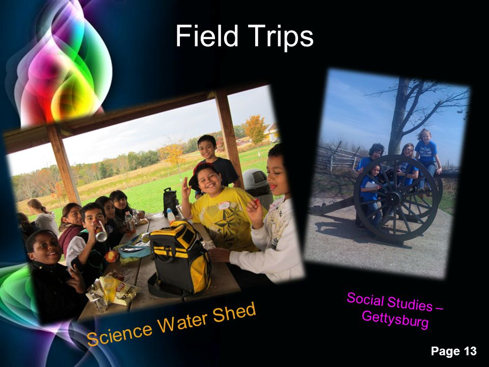 Free Powerpoint Templates Page 13 Field Trips Science Water Shed Social Studies – Gettysburg