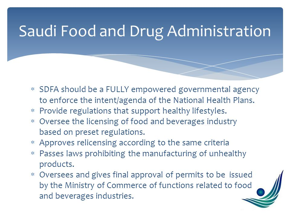  SDFA should be a FULLY empowered governmental agency to enforce the intent/agenda of the National Health Plans.  Provide regulations that support h