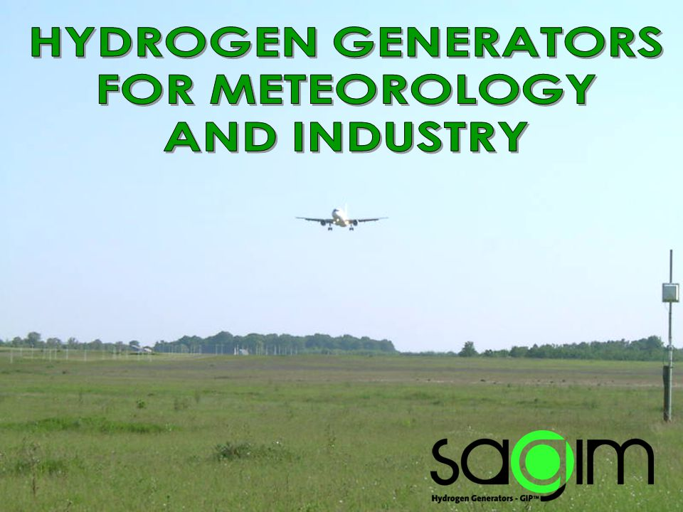 HYDROGEN GENERATOR TYPE GIP™ 3 Independent Chemical process very easily used Gas reserve possible Especially adapted to isolated areas Reliable