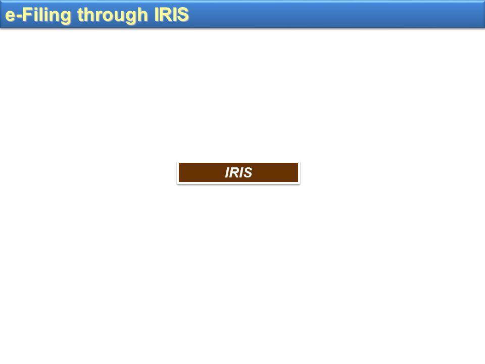 e-Filing through IRIS IRIS