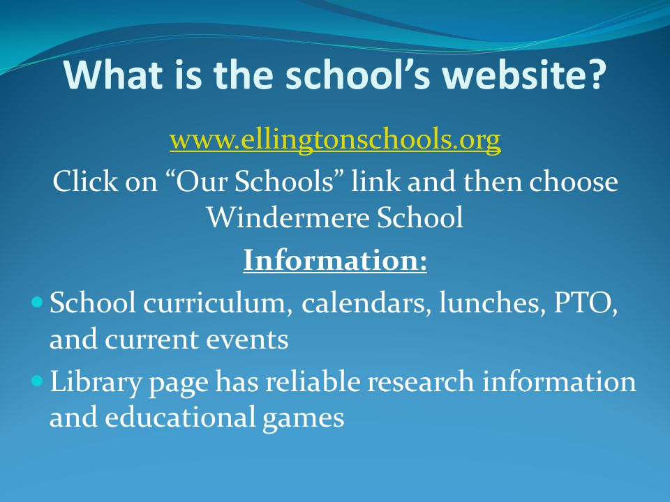 What is the school's website.