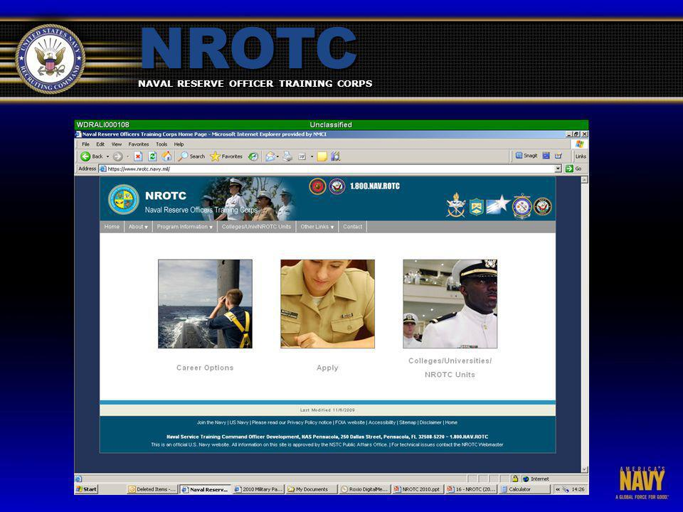 NAVAL RESERVE OFFICER TRAINING CORPS NROTC