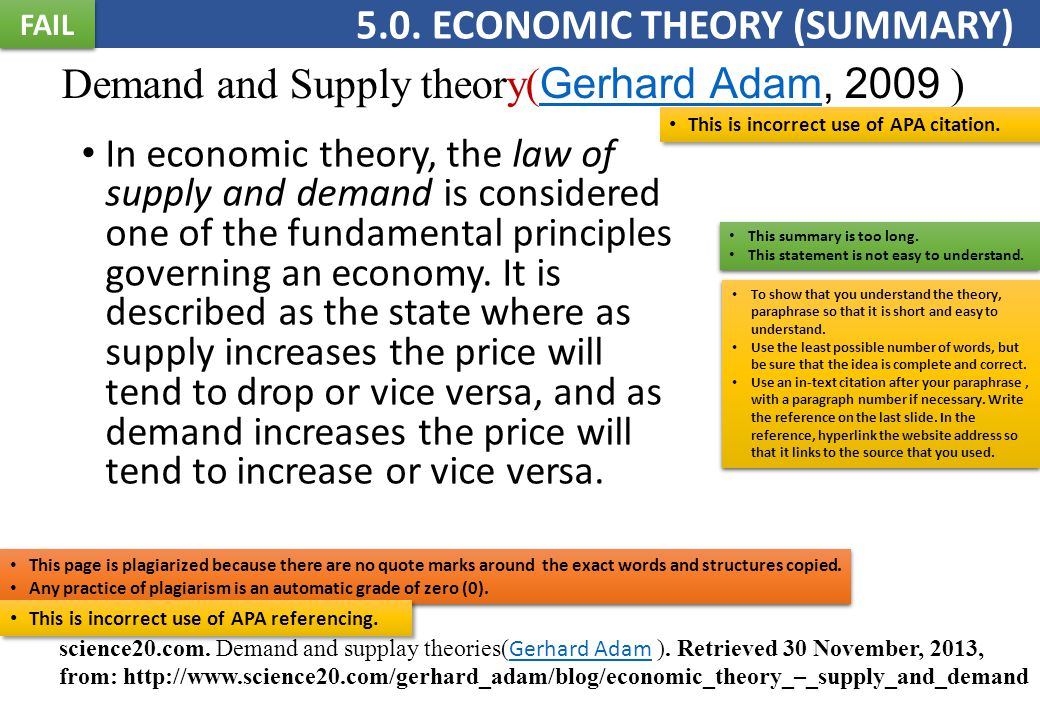 Demand and Supply theory( Gerhard Adam, 2009 ) Gerhard Adam In economic theory, the law of supply and demand is considered one of the fundamental principles governing an economy.