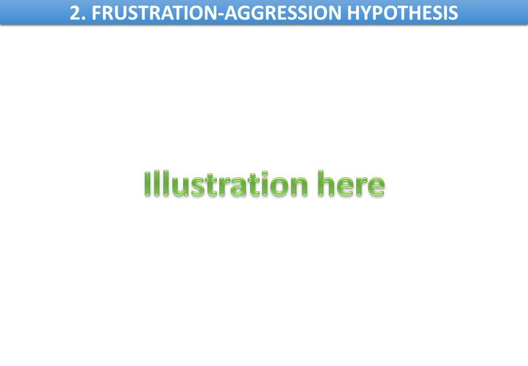 2. FRUSTRATION-AGGRESSION HYPOTHESIS