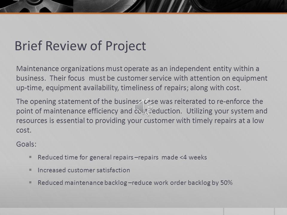 Maintenance Utilization TECH 58100 Project Analyze Phase Chris Gray 11/14/2013