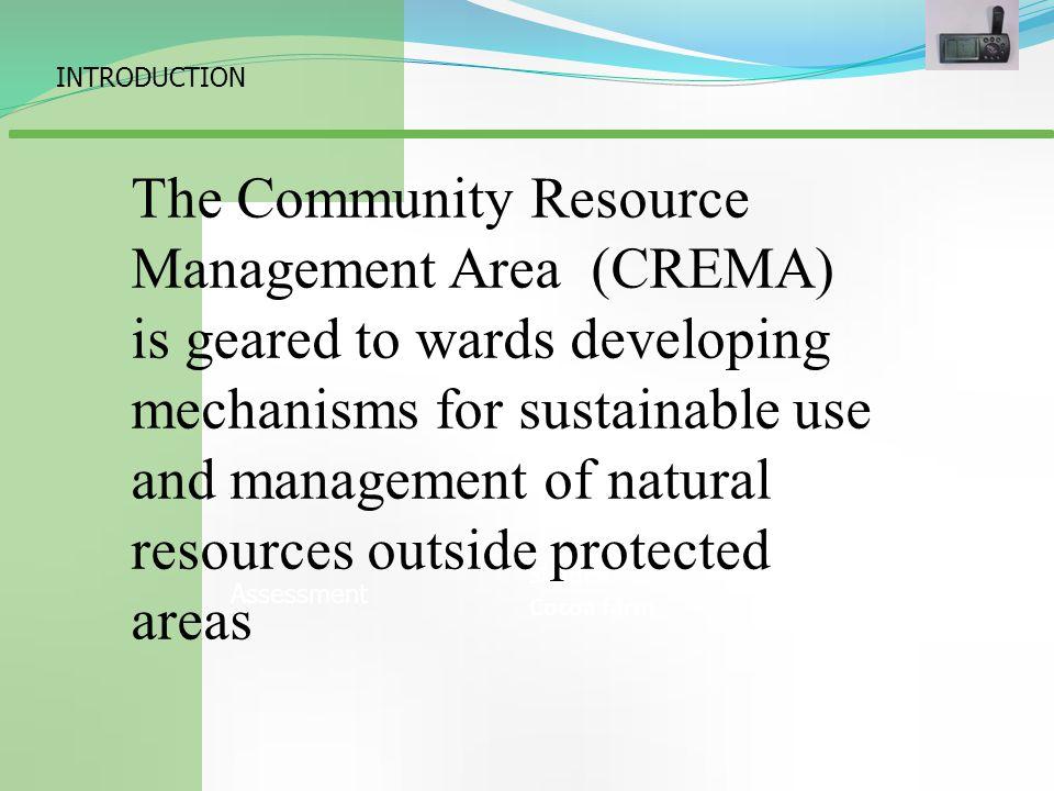 CREMA Topic GIS Based Wildlife Habitat Suitability Modeling within the Jelinkon Community Resource Management Area around Mole National Park.