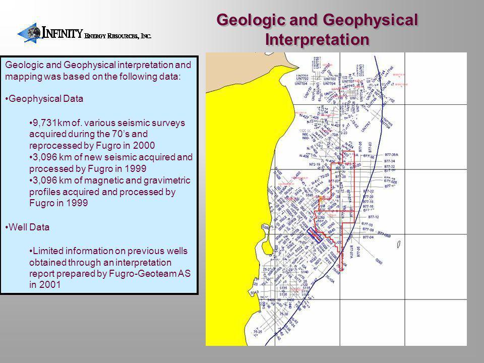 Geologic and Geophysical Interpretation Geologic and Geophysical interpretation and mapping was based on the following data: Geophysical Data 9,731km