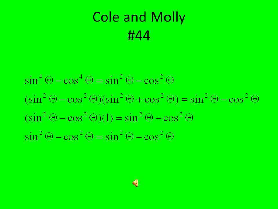 Cole Starcher Molly Speece #44