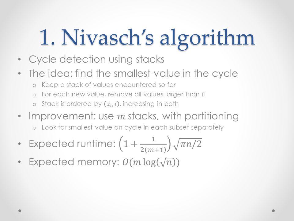 1. Nivasch's algorithm