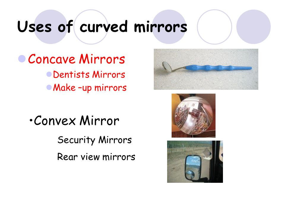 Convex Mirror – only one ray diagram The image is behind the mirror F