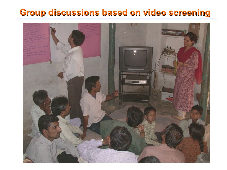 Group discussions based on video screening