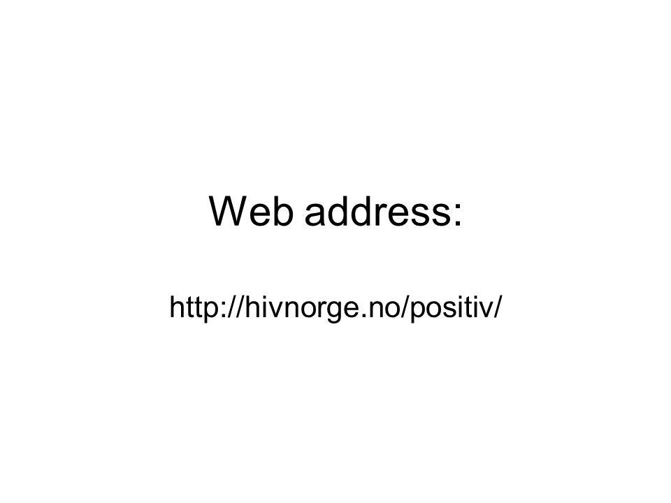 Web address: http://hivnorge.no/positiv/