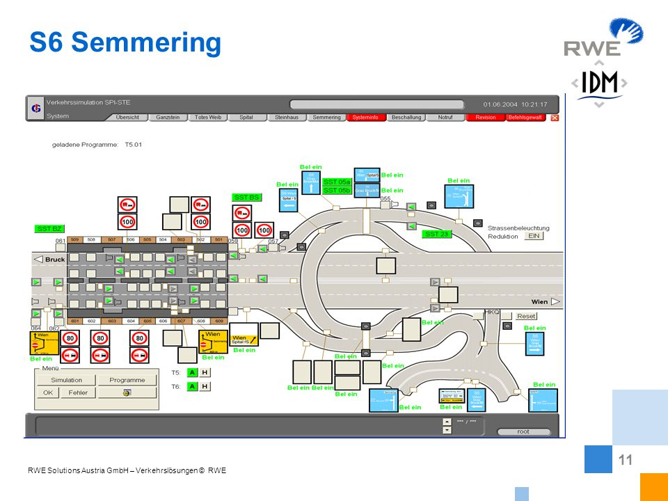 11 RWE Solutions Austria GmbH – Verkehrslösungen © RWE Fire !!! S6 Semmering