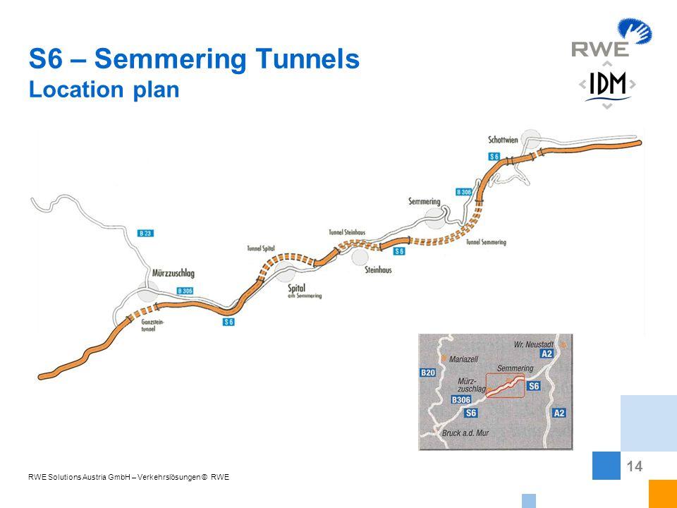 14 RWE Solutions Austria GmbH – Verkehrslösungen © RWE S6 – Semmering Tunnels Location plan