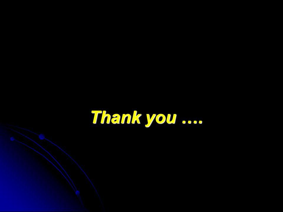 Thank you …. Thank you ….
