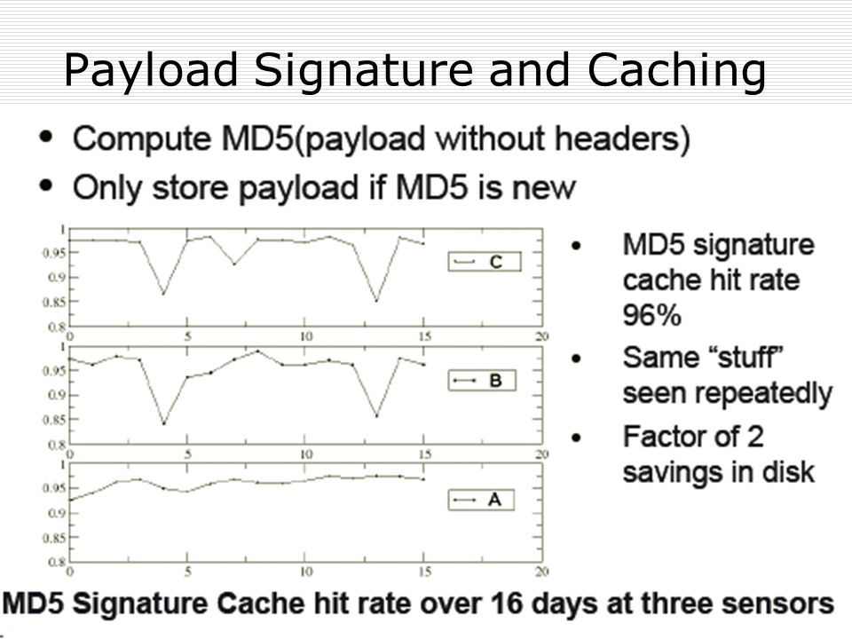 Payload Signature and Caching