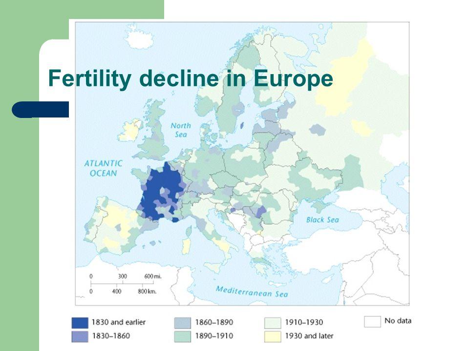 Fertility decline in Europe