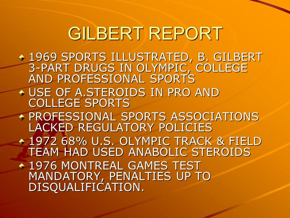 GILBERT REPORT 1969 SPORTS ILLUSTRATED, B.