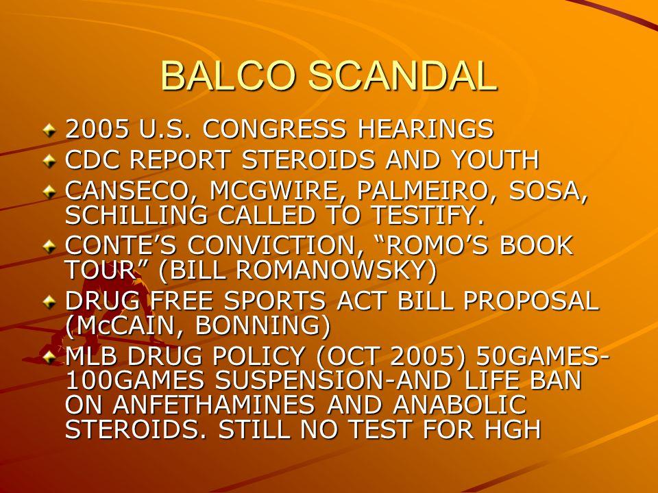 BALCO SCANDAL 2005 U.S.