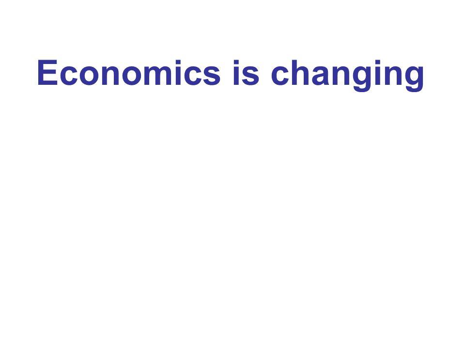 Economics is changing
