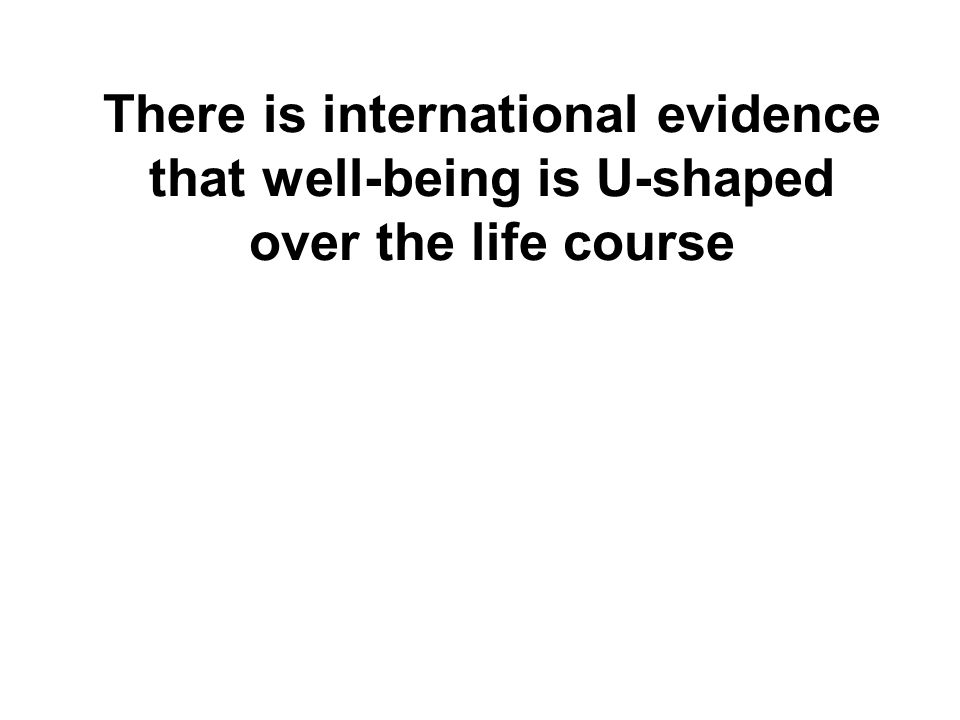 There is international evidence that well-being is U-shaped over the life course
