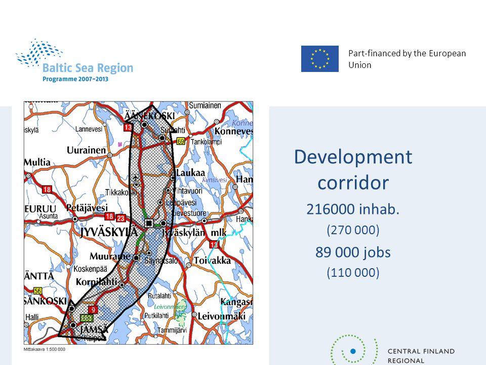 Part-financed by the European Union Development corridor 216000 inhab.