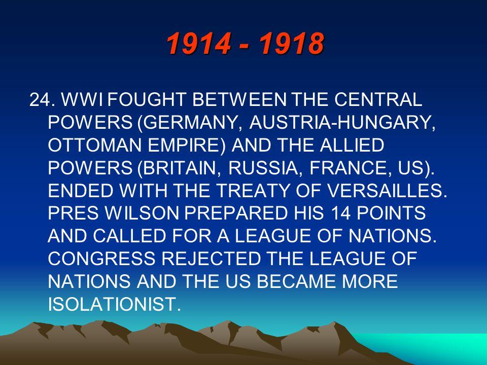 1914 - 1918 24.