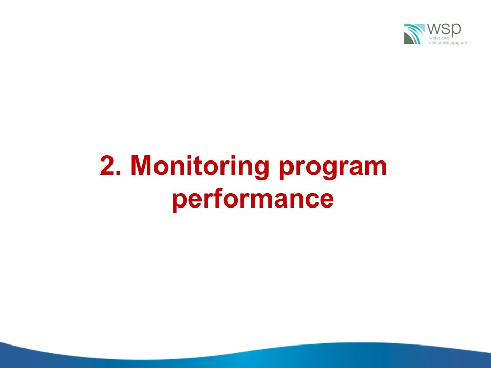 2. Monitoring program performance