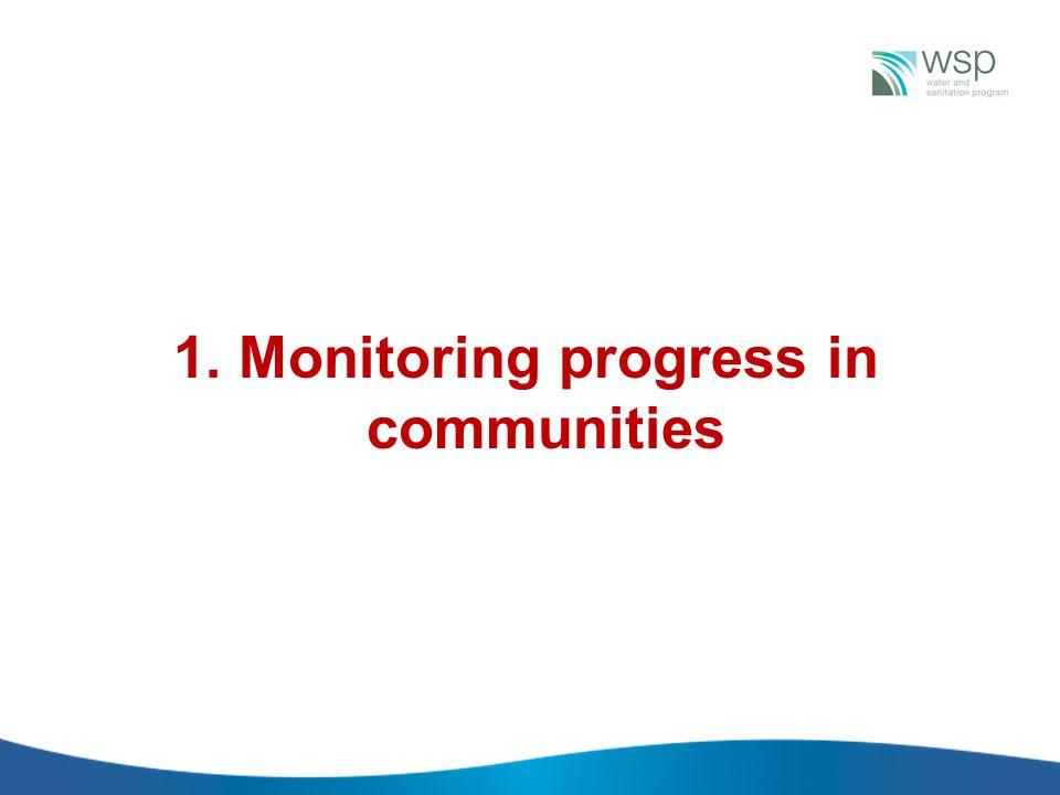 1. Monitoring progress in communities