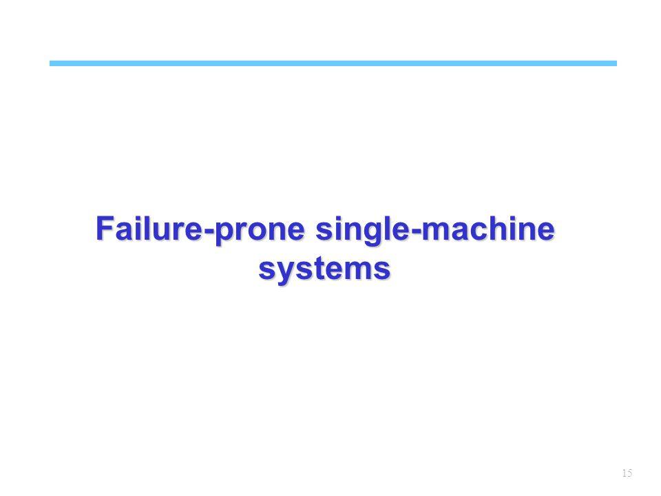 15 Failure-prone single-machine systems