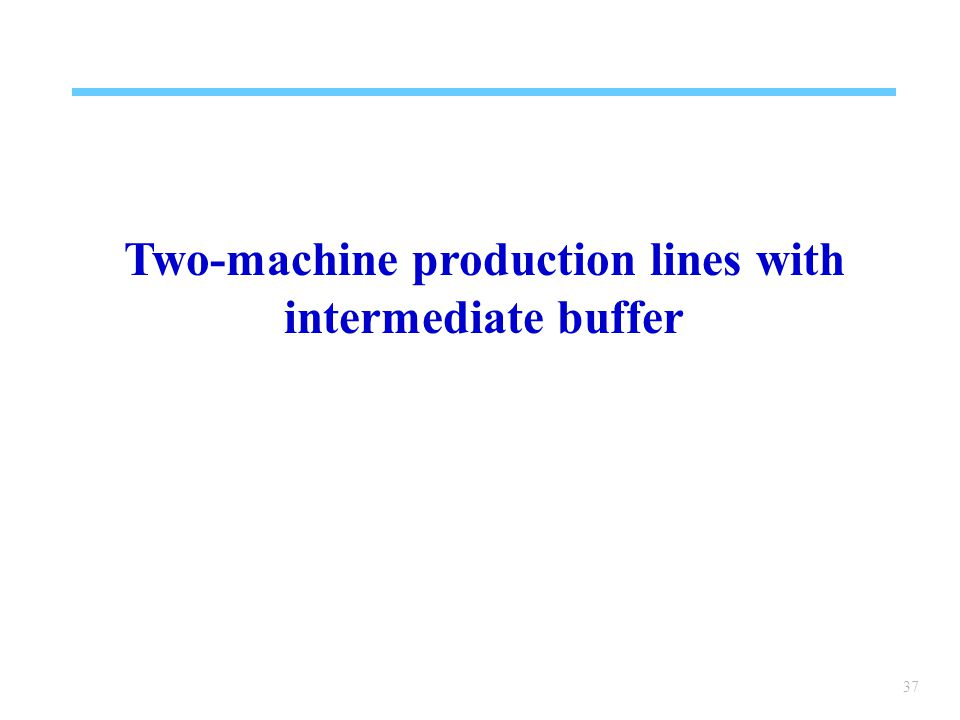 37 Two-machine production lines with intermediate buffer