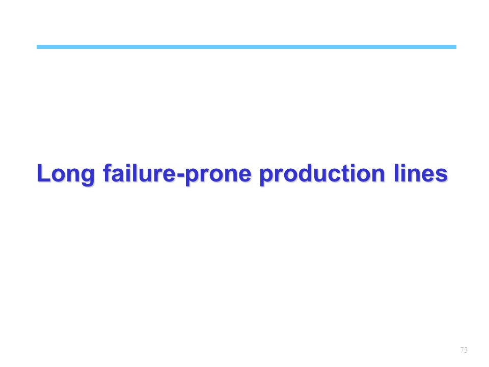 73 Long failure-prone production lines