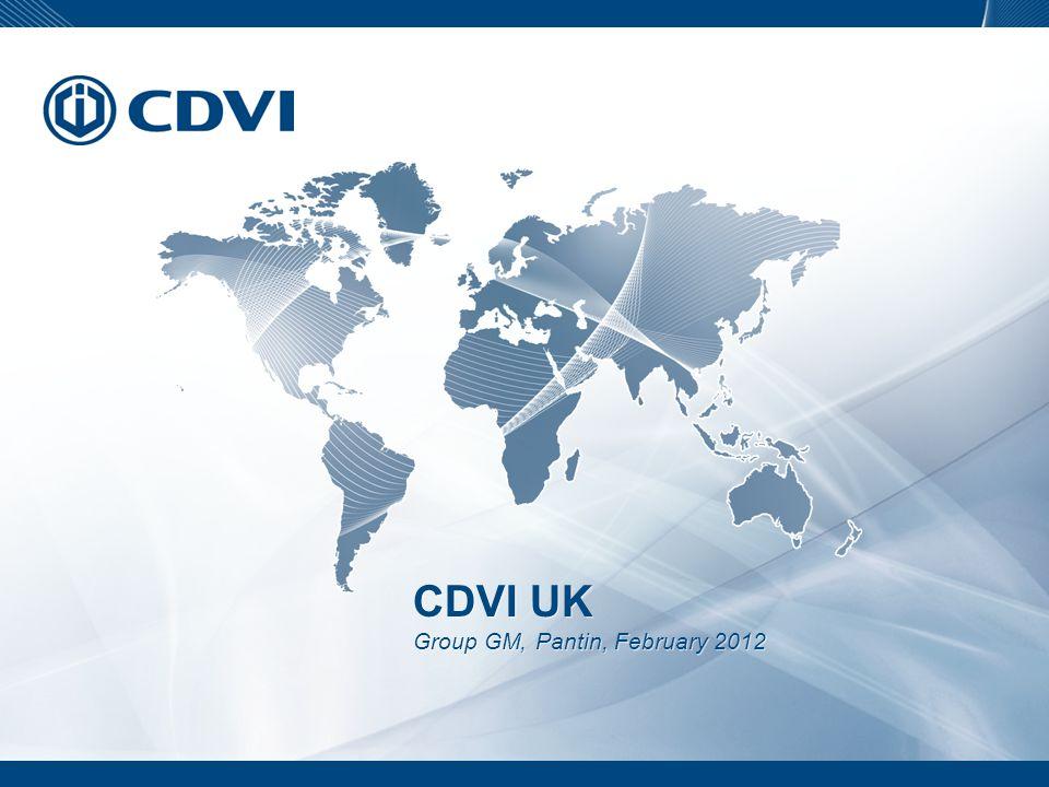 CDVI UK Group GM, Pantin, February 2012 CDVI UK Group GM, Pantin, February 2012