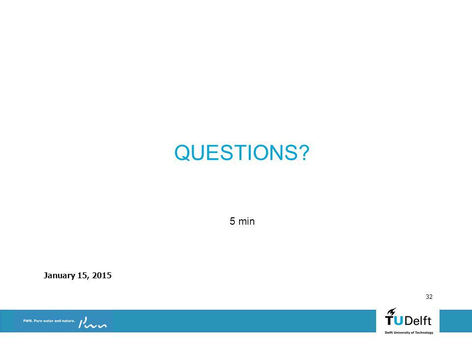 January 15, 2015 32 QUESTIONS? 5 min