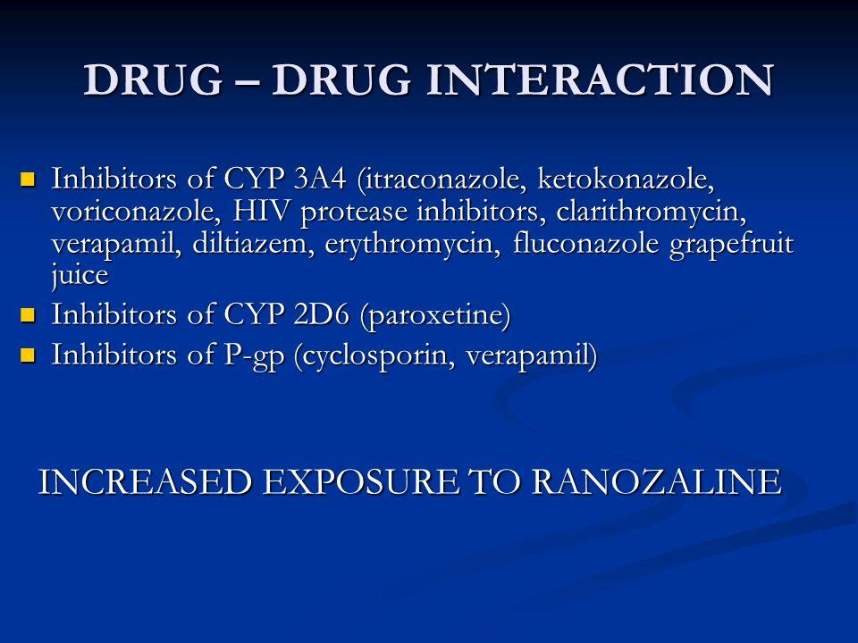 DRUG-DRUG INTERACTION CYP 2D6 inducers (rifampicin, phenytoin, phenobarbital, carbamazepine, St.