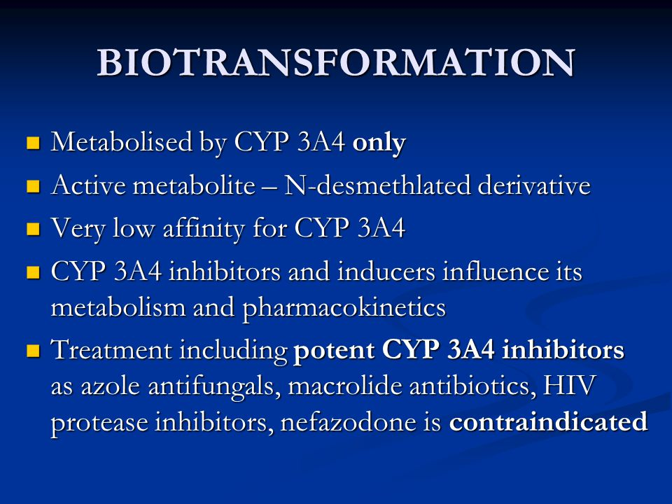 BIOTRANSFORMATION the combination of ivabradine with moderate CYP 3A4 inhibitors (diltiazem, verapamil) is not recommended the combination of ivabradine with moderate CYP 3A4 inhibitors (diltiazem, verapamil) is not recommended CYP 3A4 inducers (rifampicin, barbiturates, phenytoin, St John, s Wort) may decrease ivabradine exposure and activity CYP 3A4 inducers (rifampicin, barbiturates, phenytoin, St John, s Wort) may decrease ivabradine exposure and activity