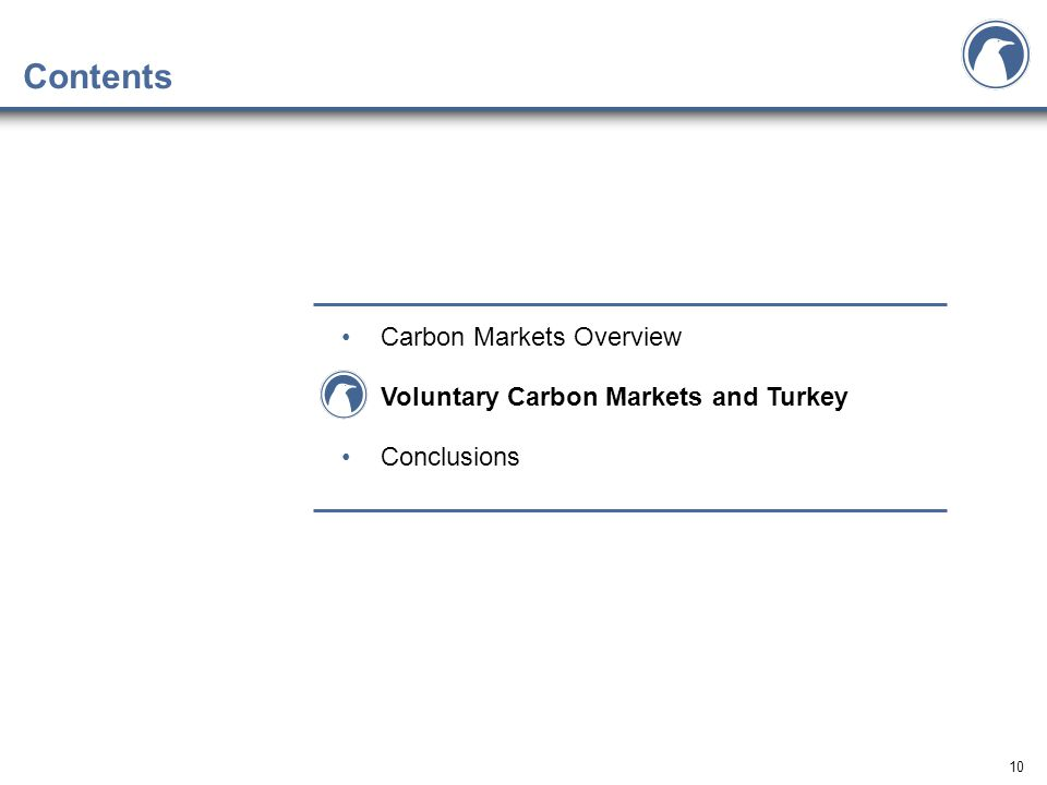 10 Contents Carbon Markets Overview Voluntary Carbon Markets and Turkey Conclusions